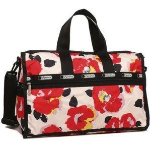 LeSportsac Garden Poppy Medium Weekender Bag